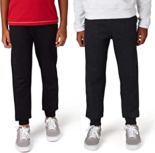 LEE Boys Joggers Fleece Pants | Sweatpants for Boys 2 Pack of Boys Athletic Pants with Front Pockets