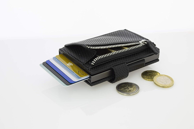 Cascade f/ür M/ünzen Automatischer Kartenetui /Ögon Smart Wallets Blaster F/ür 8 Karten und Banknoten Popup-Karten RFID Blocking