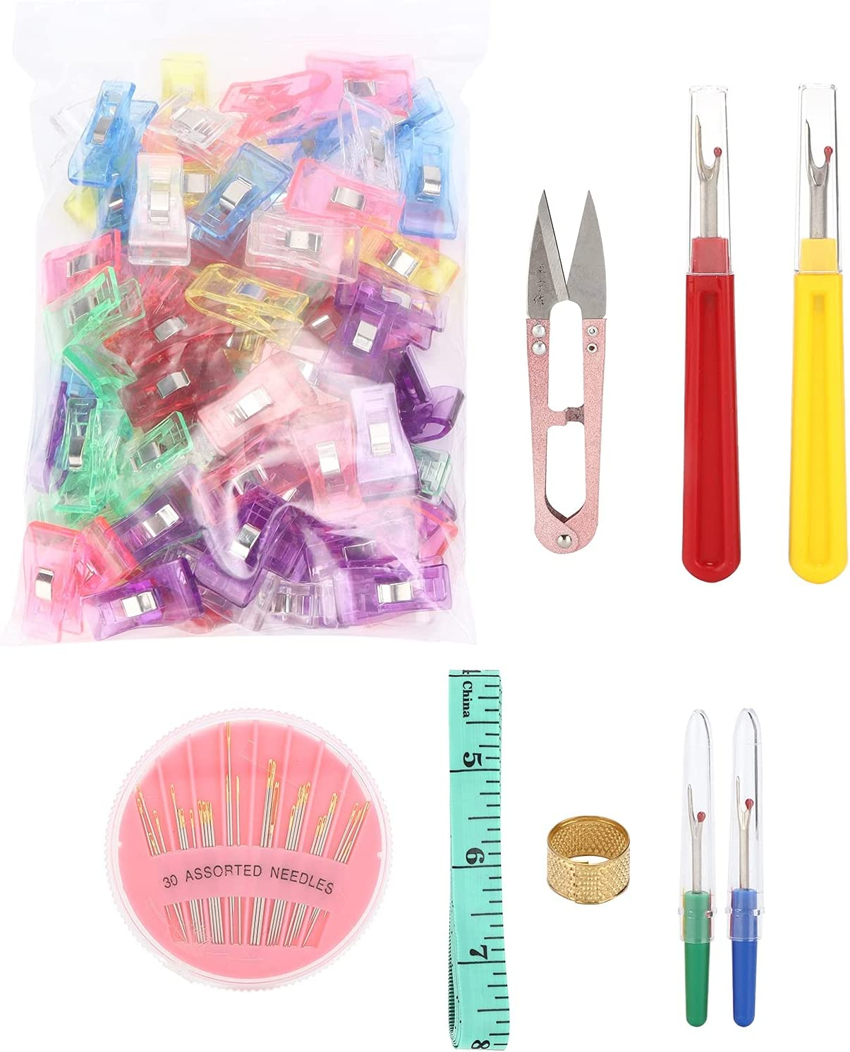 ASOMI Seam Ripper Kit Colorful Durable Stainless Handy Handles T