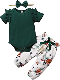 Newborn Baby Girl Clothes Infant Girl Outfit Romper Pants...