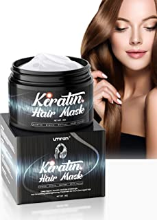 UMRAN Keratin Hair Mask - Moistorize and smoothen hair - Intensive Treatment for Dry Damaged Hair with Biotin,Retinol and ...