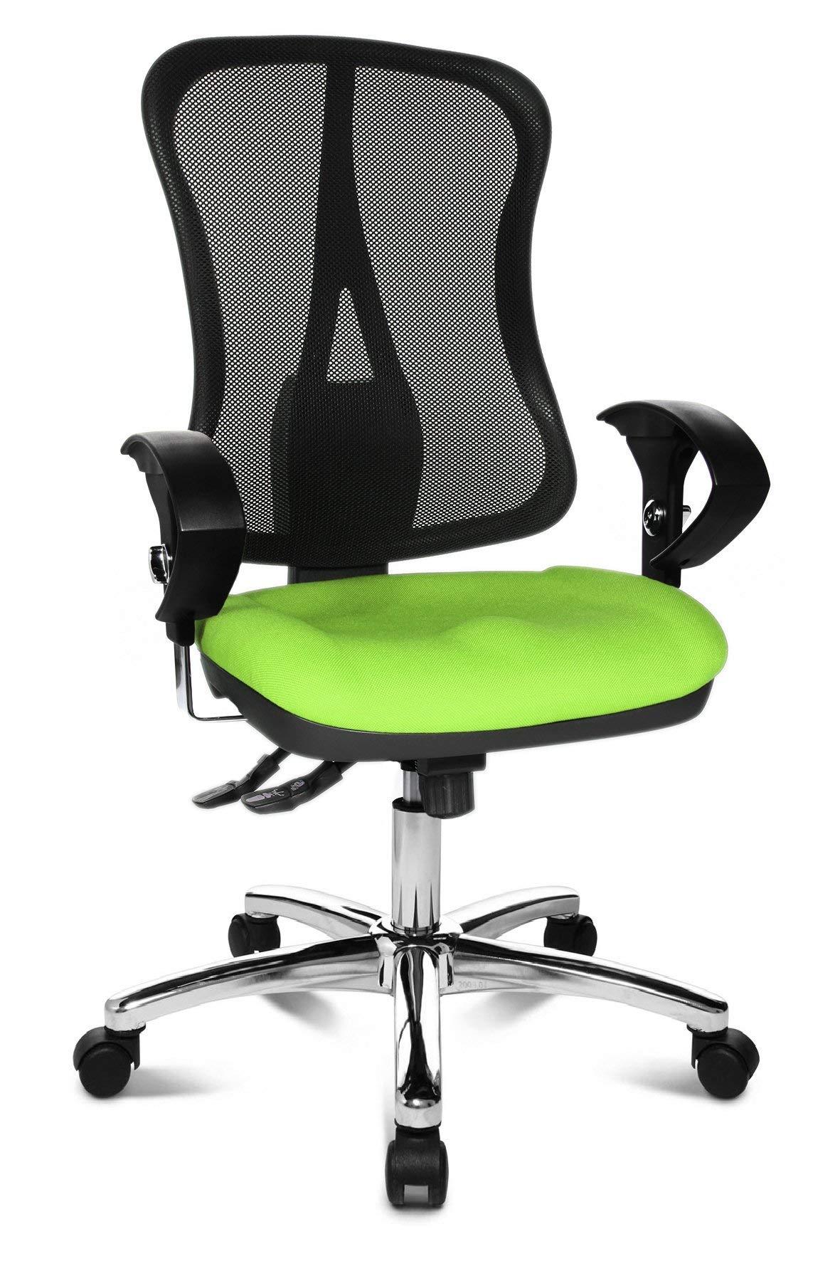 Topstar Head Point SY Deluxe, ergonomischer Bürostuhl, Schreibtischstuhl, inkl. Armlehnen, Stoff, apfelgrünschwarz