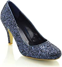 Amazon.co.uk: Navy Glitter Shoes
