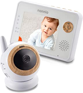 Nannio Eye Baby Monitor with Tripod Screw Hole, Adjustable Magnetic Base, 3.5-inch Screen, Infrared Night Vision, Two Way ...