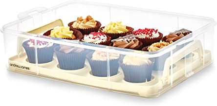 Andrew James Additional Layer for The 2 Tier Cupcake Carrier | Holds 12 Cupcakes or Muffins | Removable Inner Tray with Handles to Store and Transport Large Cakes & Bakes