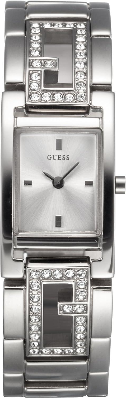 Guess Guess Ladies Jewelry 75007L1 - Reloj analógico de mujer de cuarzo con correa de acero inoxidable plateada