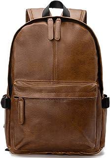 """Viaggi Zaino Borsa a Tracolla,OB OURBAG Zaino in Pelle PU Esterni Scuola Zaino fit 15.6"""" Laptop Backpack per Uomo e Donna ..."""