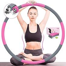 DUTISON Hoelahoep Fitness Volwassenen Sports - Professionele Fitnessontwerp Afneembaar 8 Secties voor Kinderen Training Ge...
