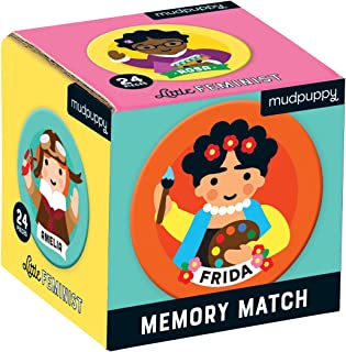 Mudpuppy Little Feminist Mini Memory Match Game, 24Piece (12 Pairs), Ages 3+, Develop Matching, Visual Memory, Focus, Concentration Skills, Feminism for Kids