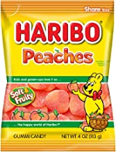 Haribo Gummi Candy, Peaches, 4 ounce (Pack of 12)