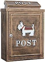 Mailbox Waterdichte Krantendoos Outdoor Regendichte Villa Muur Met Lock Inbox Creatieve Brievenbus (Kleur: Zwart)