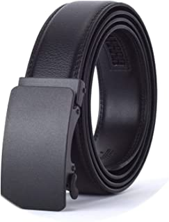 New Mens Fashion Automatic Buckle Leather Luxury Man cinturones hombre Black white Belt Alloy buckle White belt for Men,5,125cm