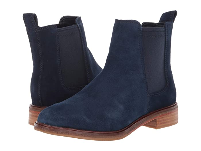 Clarks  Clarkdale Arlo (Navy Suede) Womens  Shoes