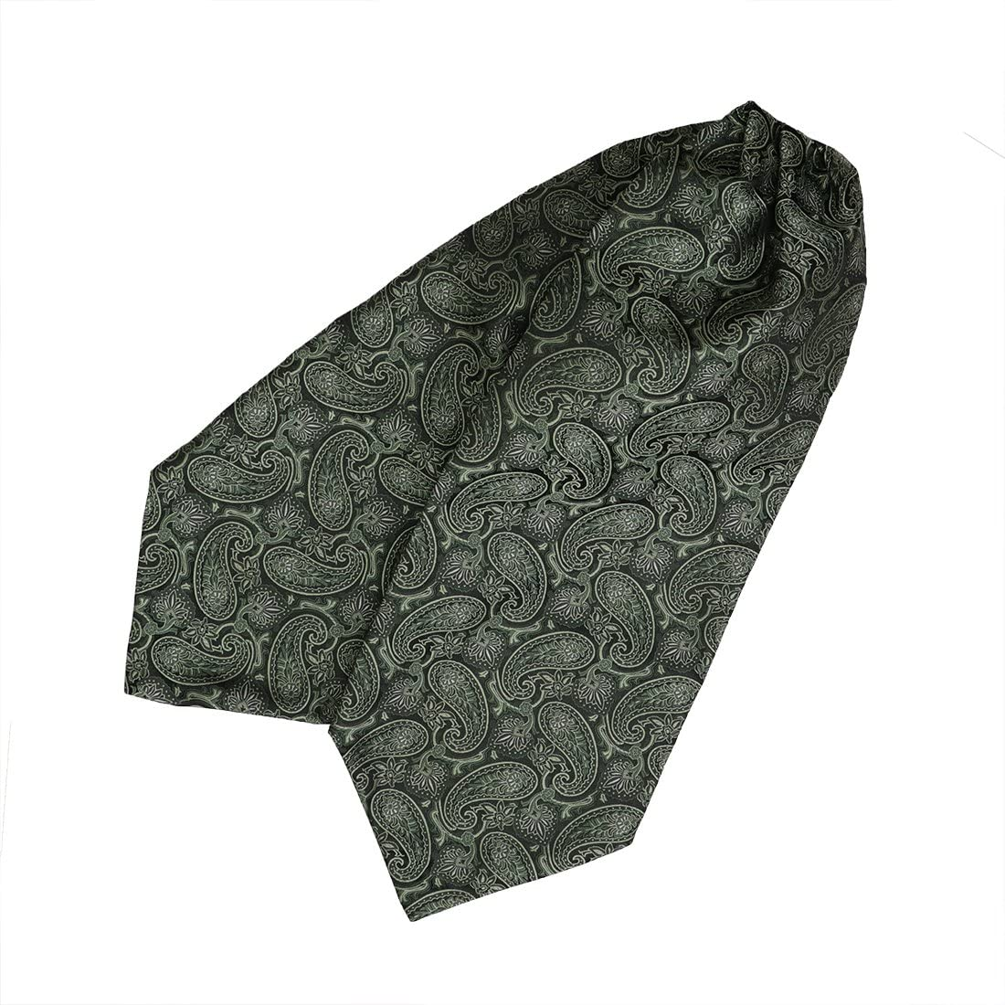 Epoint Men's Fashion Classic Paisley Cravat Silk Ascot Tie Hanky Set, With Box Set
