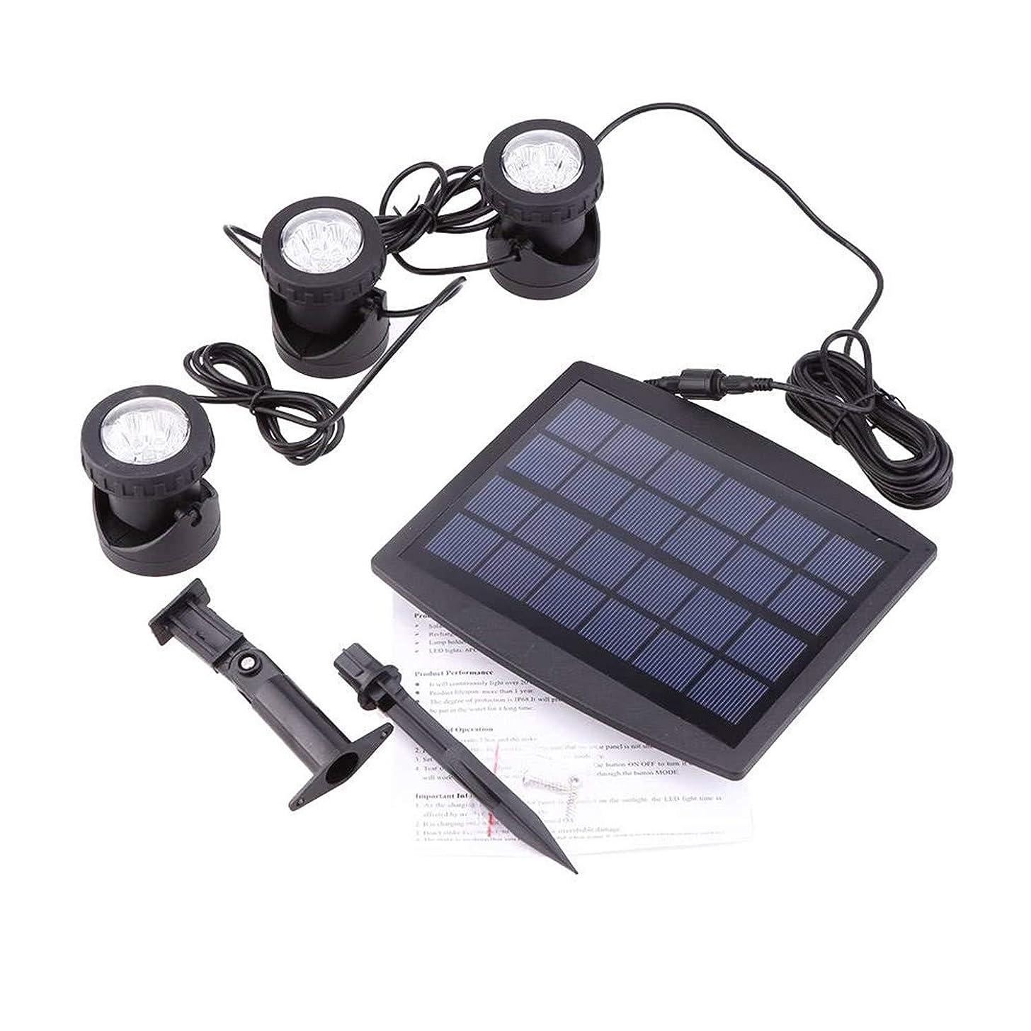 SHUTAO Solar Powered 3 Submersible Lamps 18 LEDs Light Garden Pool Underwater Spotlight