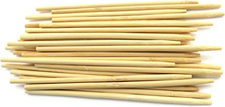 BambooMN 6.5 Inch 5mm Thick Semi Point Food Caramel Candy Apple Corn Dog Garden Bamboo Skewers, 100 Pieces