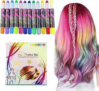 comprar comparacion halloween Buluri 12 colores Set de tiza para el cabello,Tinte para el cabello plumas de tiza profesionales para el cabello...