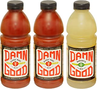 Damn Good Cocktail Mixes, 2 Bloody Mary Mix 1 Liter (33.8 fl oz) bottles, 1 Margarita Mix 1 Liter (33.8 fl oz) bottle