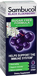 Sambucol Black Elderberry Syrup - Support Immune System- Great Taste - Sugar Free - 4 oz (Pack of 3)