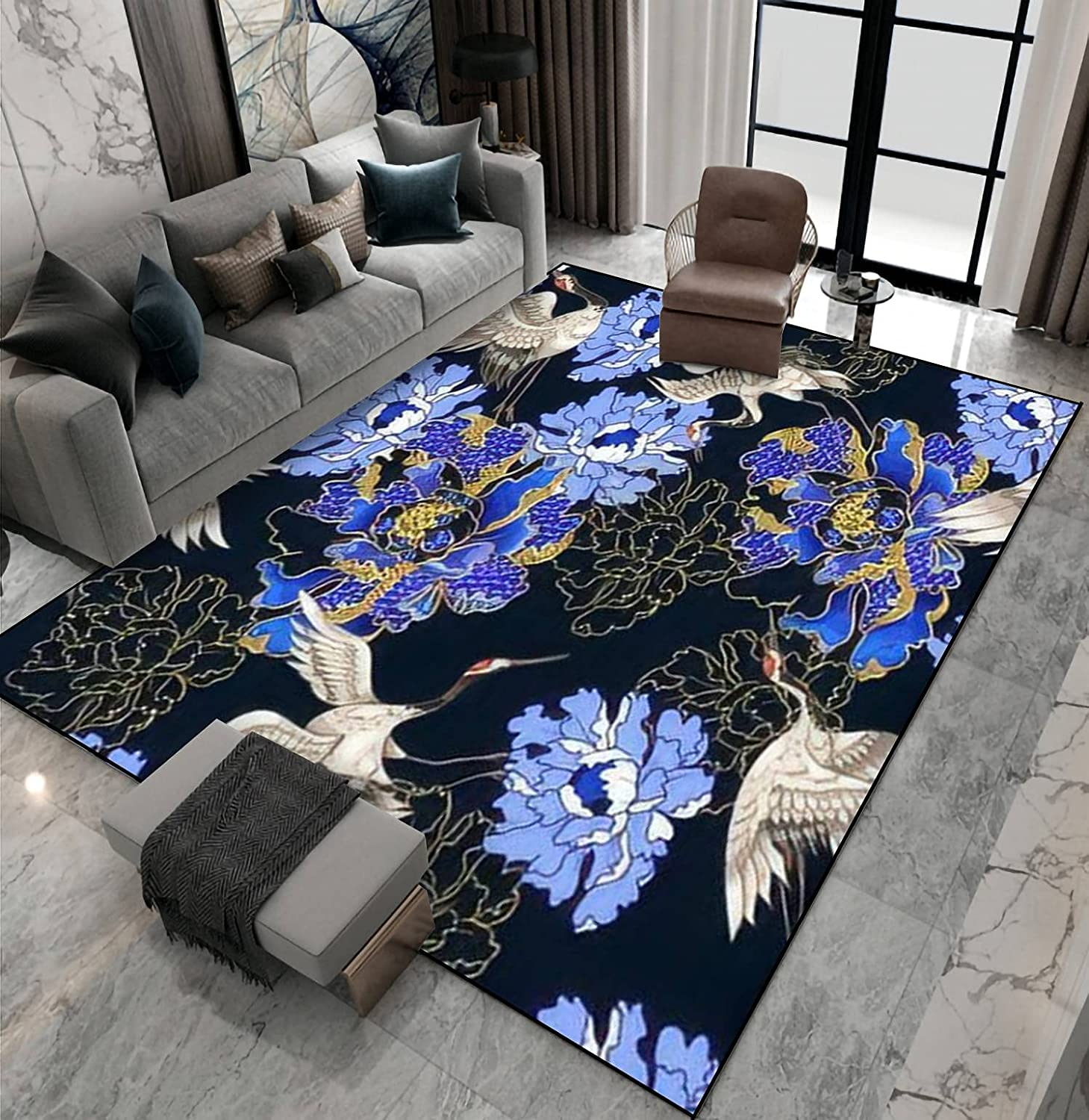 Area Rug Non-Slip 25% OFF Columbus Mall Floor Mat White Pattern with Japanese Seamless