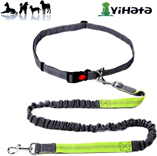 YIHATA Hands Free Dog Leash for Running Walking Jogging Training Hiking Retractable Bungee Dog Running Leash for Medium to Small Dogs