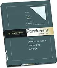 Southworth Fine Parchment Paper, 24 lb, Blue, 100 Sheet Count (P964CK)