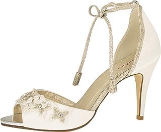 Rainbow Club Chaussures de mariée Zarah - Escarpins rembourrés en satin pour femme