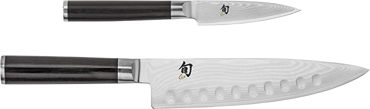 Shun Cutlery Classic 2-Piece Starter Set 8, Multi-Purpose Hollow Ground Chef's 3.5-inch Paring Knife are The Essential Kit...