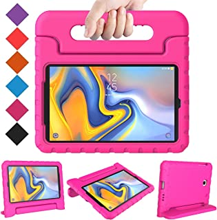 BMOUO Kids Case for Samsung Galaxy Tab A 8.0 2018 SM-T387, Shockproof Light Weight Protective Handle Stand Kids Case for Galaxy Tab A 8.0 Inch 2018 Release SM-T387 - Rose