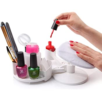 Amazon Com Makartt Nail Gel Polish Nail Design Base Studio Tool With Gel Holders And Multi Angle Rest Great Support For Nail Salon Home Diy Manicure Pedicure Nail Art Beauty
