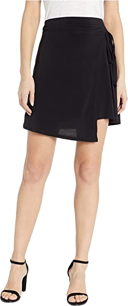 Wrap Knit Mini Skirt