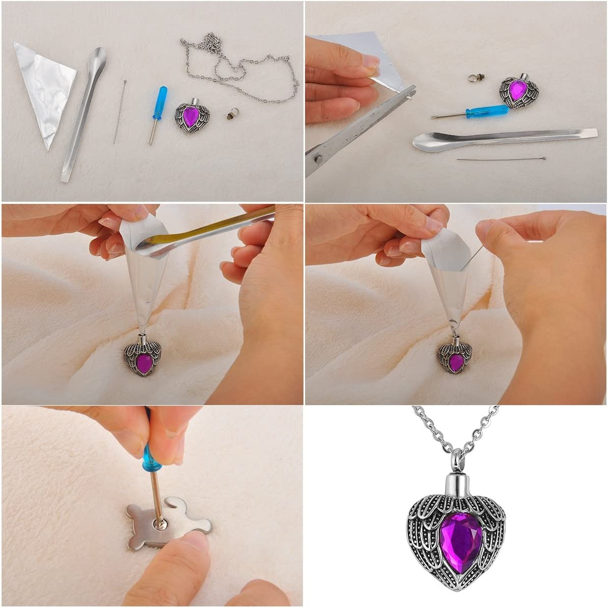 VALYRIA Stainless Steel Keychain My Sister My Friend Heart Urn Charm Cremation Keepsake Ashes
