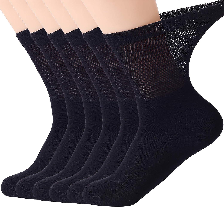 Softfeeling Women Men Ankle Socks Long Dress Socks Non-binding Hiking Socks Athletic Crew Socks Seamless Bamboo Socks