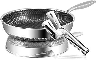 Panoramique en acier inoxydable Set Multipurpose Cookware Pan Omelette Pan Induction Pan Usage compatible pour la cuisine ...