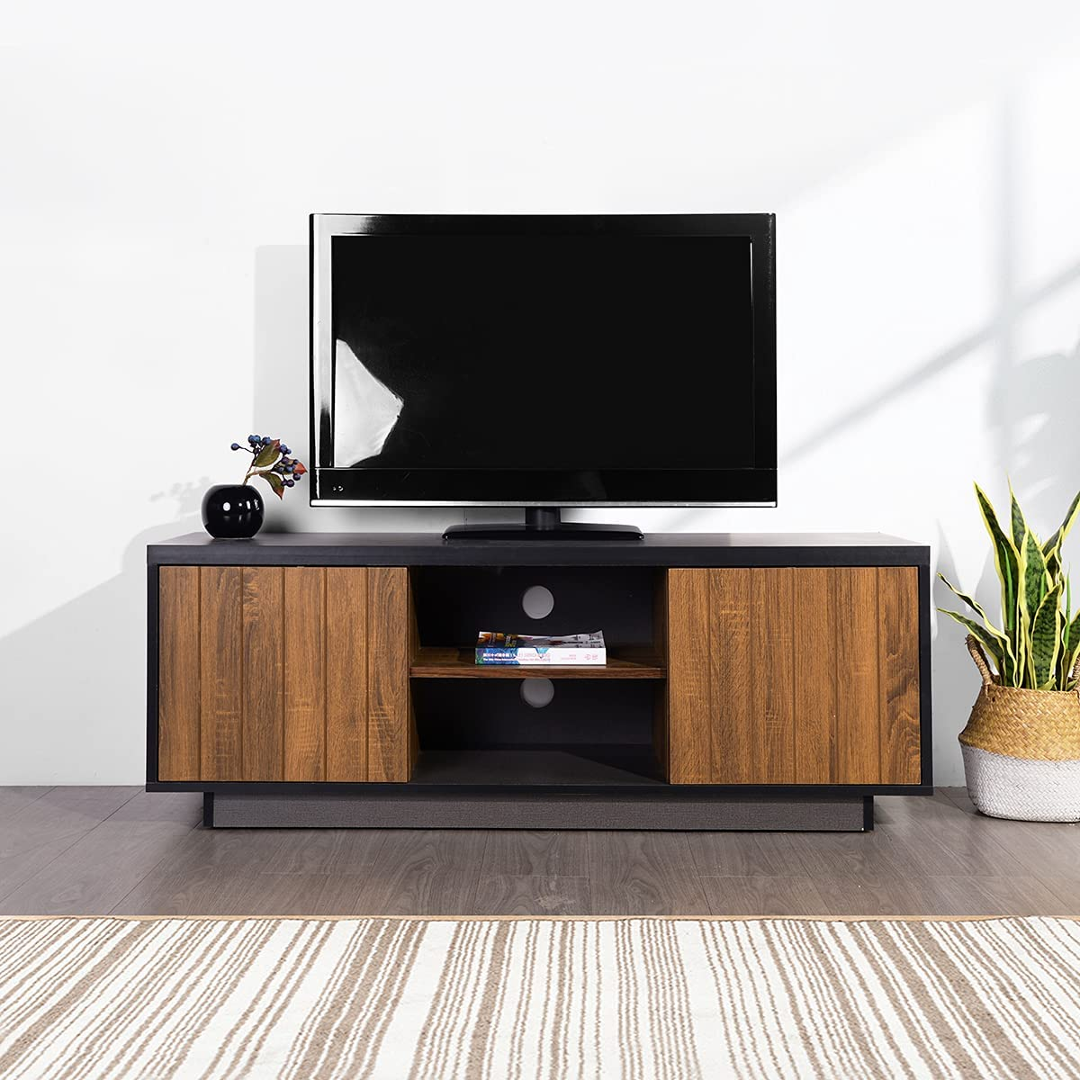 Knocbel Mid-Century Modern 47.2in Online limited product Max 52% OFF TV Console Ta Stand Television