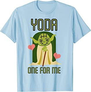 Yoda One For Me Cute Valentine's Graphic T-Shirt