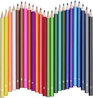 Colored Pencils, Atmoko Color Pencils Set with 24 Colored Pensils, Easy to Sharpen, [Hard to Break], Colored Pensils Bulk for Kids and Adults, Assorted Colors