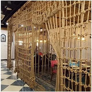 CANQUANWANG Hemp Rope net, Indoor Wall Decoration net, Photo net, bar Disco Restaurant Ceiling net, Vintage Decorative net (Size: 29m) (Color : Mesh12cm, Size : 46M)