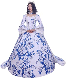 Marie Antoinette Rococo 18th Century Dress Party Costume Masquerade Ball Gown Royal Blue/Red Vintage Cosplay