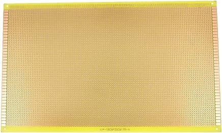 sourcingmap® PCB Placa con pistas de placa de circuito impreso 30cm x 18cm recubierto de