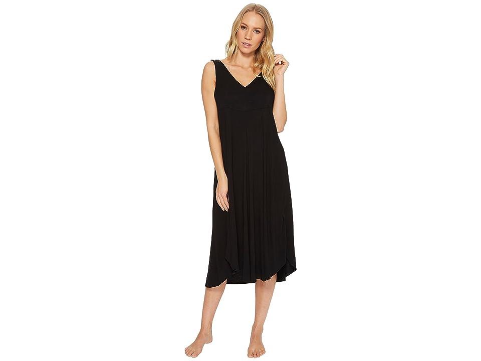 Donna Karan Modal Spandex Jersey 44 Gown (Black) Women