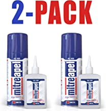 MITREAPEL Super Ca Glue (7 ounces) with Spray Adhesive Activator (27 ounces ) -Crazy Clear Craft Glue for Wood, Plastic, Metal, Leather, Ceramic - Cyanoacrylate Glue for Crafting and Building