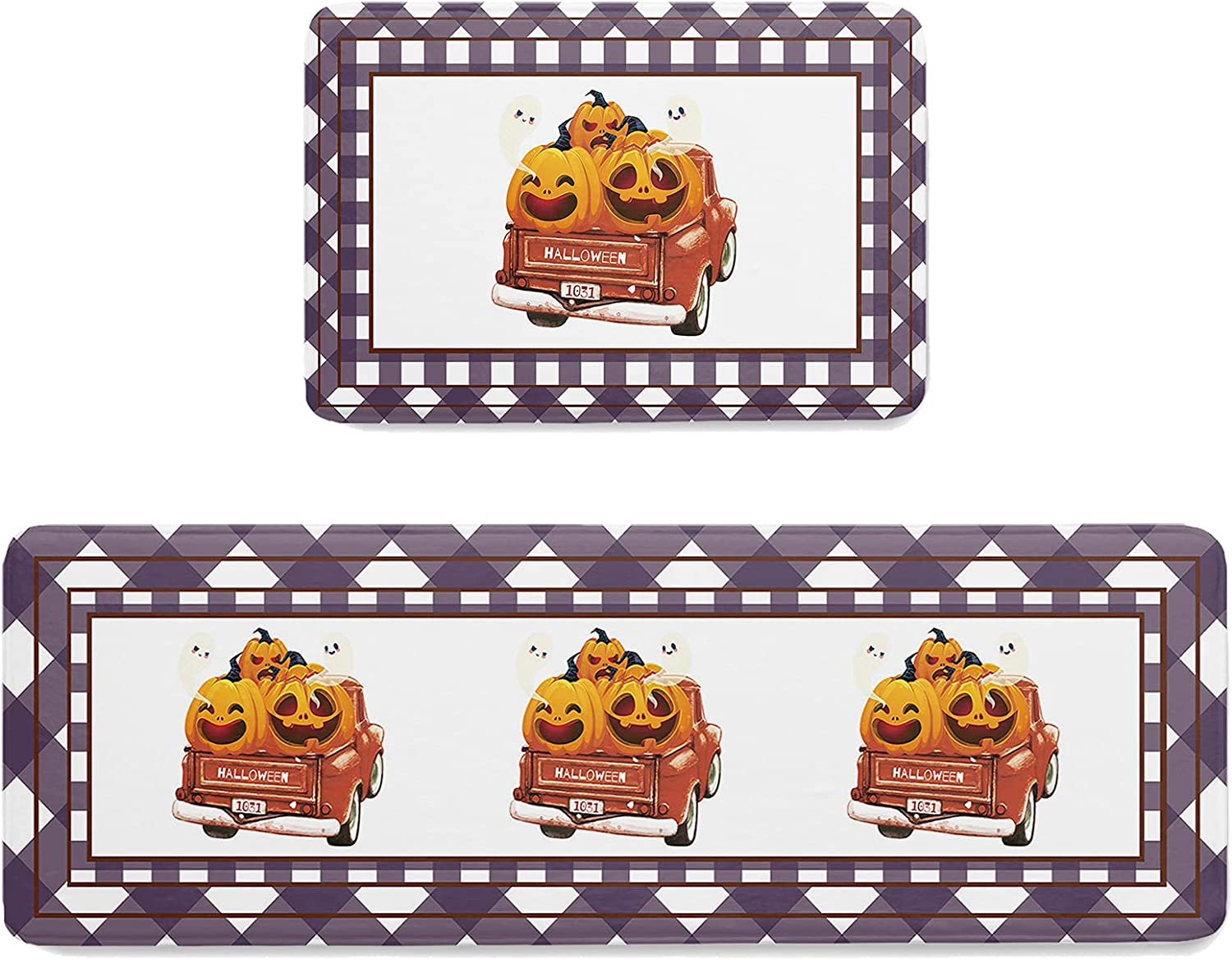ARTSHOWING Anti sold out Fatigue Kitchen Rugs 2 Our shop OFFers the best service Set Piece Wate Halloween
