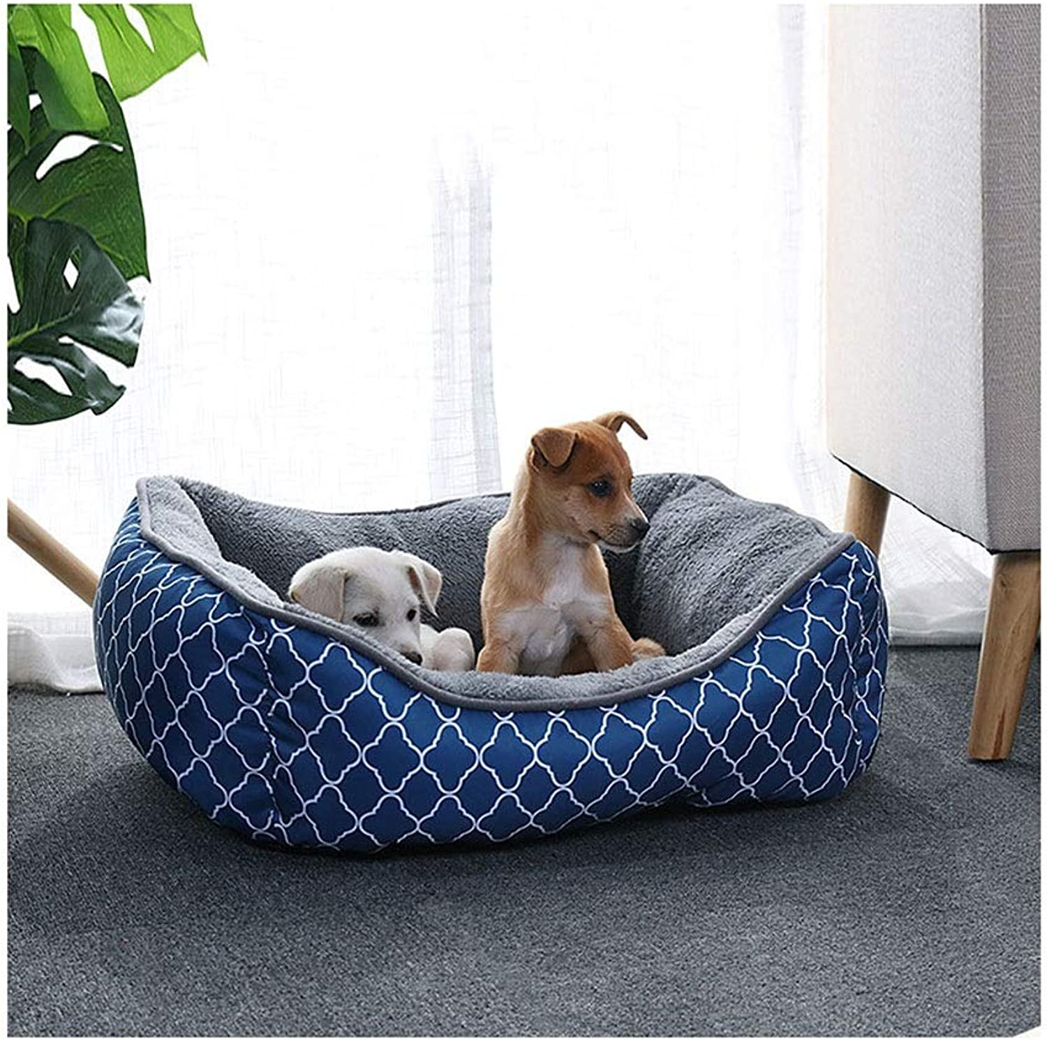 DSADDSD Pet Dog Bed Cat Nest Kennel Comfortable Mat For Small Medium Large Dogs Durable Nonslip Pet Supplies (color   2 , Size   60cm48cm20cm)