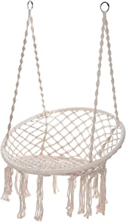 Sponsored Ad - Becoler Executive Chair Hammock Chair Macrame Swing Handmade Swing Chair Perfect for Indoor/Outdoor with Fu...