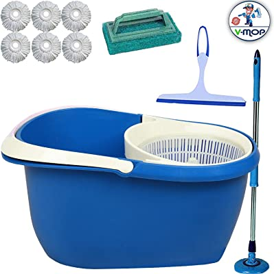 V-MOP Unbreakable Bucket Set with Heads (Blue)((Made in India))
