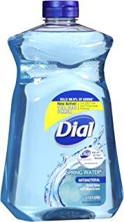 Dial Antibacterial Hand Soap with Moisturizer, Spring Water Scent, 52oz.