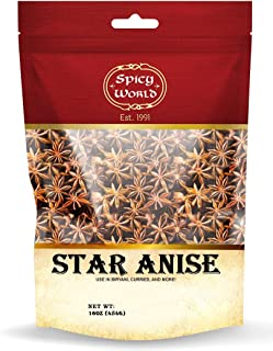 Spicy World Star Anise Pods 1 Pound - Chinese Star Anise - Premium Quality & Aroma