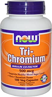 NOW Foods - Tri-Chromium with Cinnamon 500 mcg. - 180 Vegetable Capsule(s)