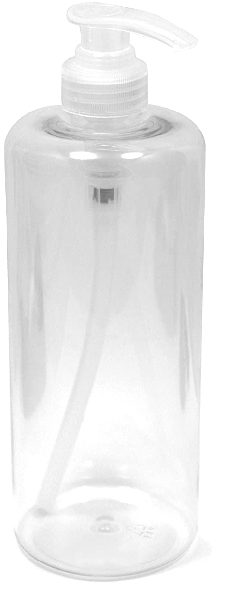 Buxly 32 oz Large Clear Soap Bottle with Pump Dispenser, Durable PET Plastic BPA-Free, Locking Cap, Refillable, Great for Essential Oils, Lotion, Detergent, Home, Office, Shower, Salons and More